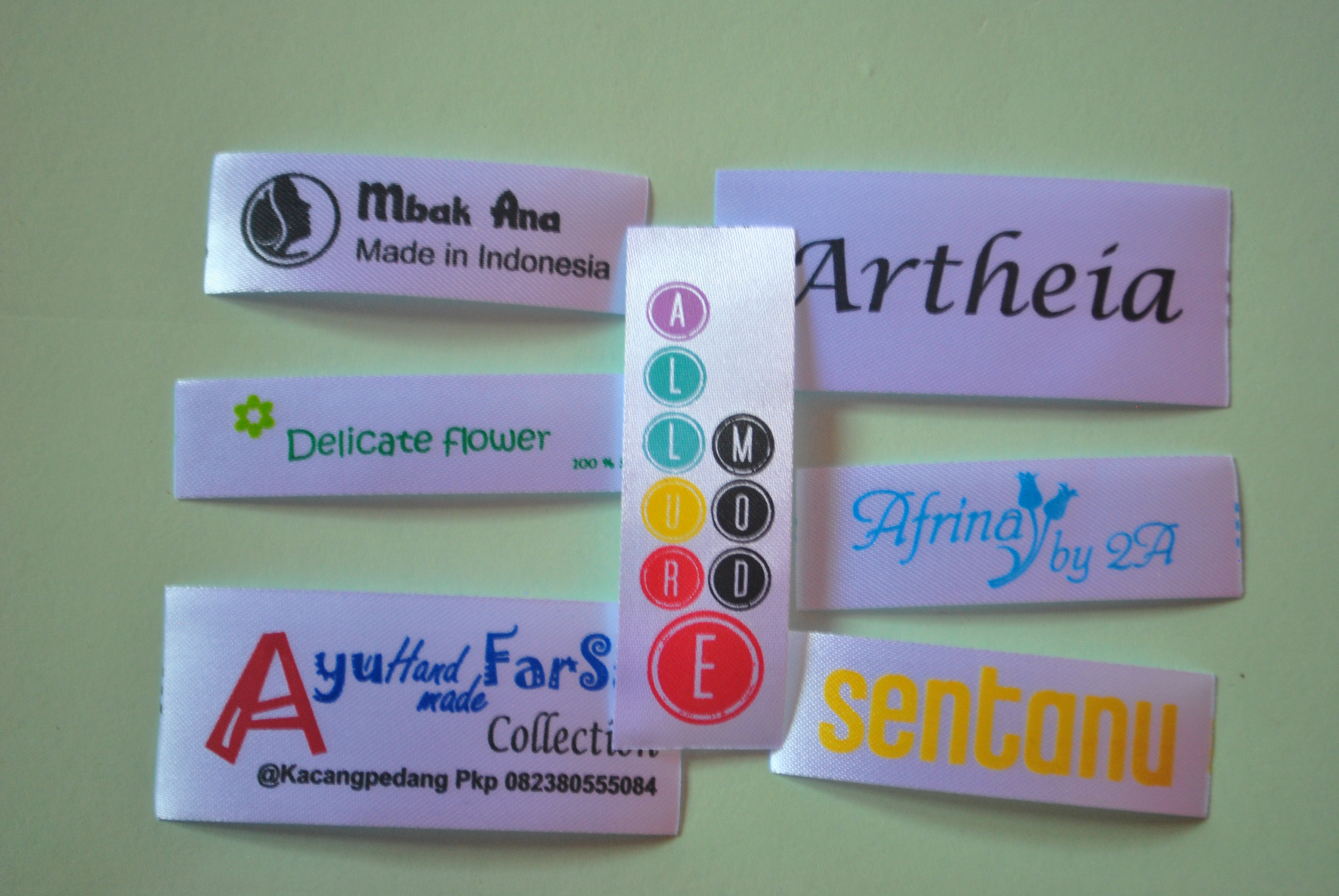 label satin printing « Label Baju Murah
